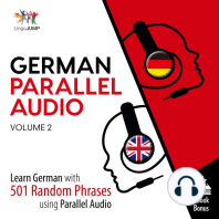German Parallel Audio - Learn German with 501 Random Phrases using Parallel Audio - Volume 2