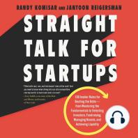 Straight Talk for Startups