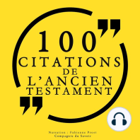 100 citations de l'Ancien Testament