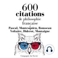 600 citations de philosophie française