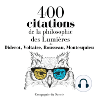 400 citations de la philosophie des Lumières