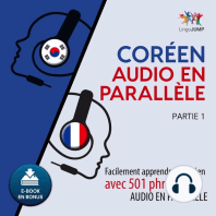 Coréen audio en parallèle - Facilement apprendre le coréen avec 501 phrases en audio en parallèle - Partie 1