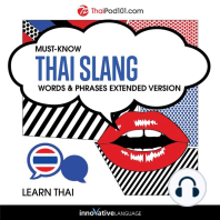Must-Know Thai Slang Words & Phrases