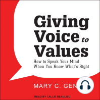 Giving Voice to Values