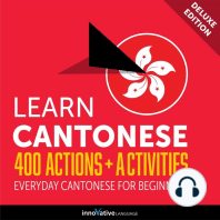 Everyday Cantonese for Beginners - 400 Actions & Activities