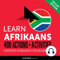 Everyday Afrikaans for Beginners - 400 Actions & Activities