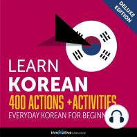 Everyday Korean for Beginners - 400 Actions & Activities