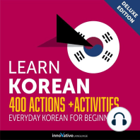 Everyday Korean for Beginners - 400 Actions & Activities