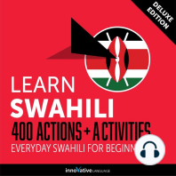 Everyday Swahili for Beginners - 400 Actions & Activities