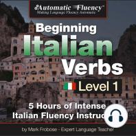 Automatic Fluency® Beginning Italian Verbs Level I