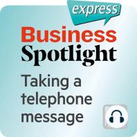 Business Spotlight express – Kompetenzen – Eine telephonische Nachricht entgegennehmen