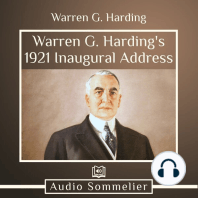 Warren G. Harding's 1921 Inaugural Address