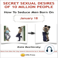 How To Seduce Men Born On January 18 Or Secret Sexual Desires of 10 Million People