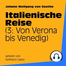 Italienische Reise: 3: Von Verona bis Venedig