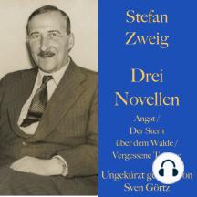Stefan Zweig: Drei Novellen.: Angst / Der Stern über dem Walde / Vergessene Träume. Ungekürzt gelesen.
