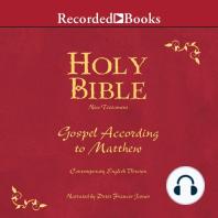 Holy Bible Gospel According To Matthew Volume 22