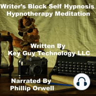 Writers Block Self Hypnosis Hypnotherapy Meditation