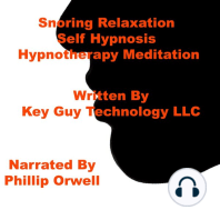 Snoring Relaxation Self Hypnosis Hypnotherapy Meditation