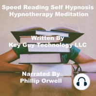 Speed Reading Self Hypnosis Hypnotherapy Meditation