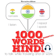 1000 essential words in Hindi