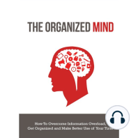 Organized Mind, The - How to Overcome Information Overload, Get Organized and Make Better Use of Your Time: Get Back on Top of Things and Beat Burn Out