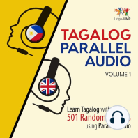 Tagalog Parallel Audio - Learn Tagalog with 501 Random Phrases using Parallel Audio - Volume 1