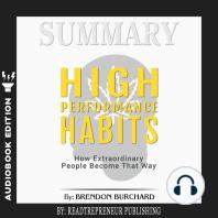 Summary of High Performance Habits