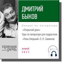 """Лекция «Открытый урок – """"Конь бледный"""" Б. Савинков»"""
