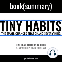 Tiny Habits by BJ Fogg - Book Summary: The Small Changes That Change Everything