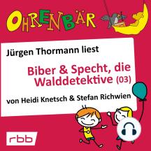 Ohrenbär - eine OHRENBÄR Geschichte, 4, Folge 34: Biber & Specht, die Walddetektive, Teil 3 (Hörbuch mit Musik)