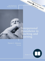 Interpersonal Boundaries in Teaching and Learning