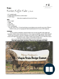 Kuchen Koffee Kake by Natalie Wagon Recipe Contest