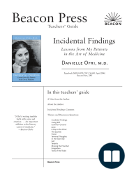 A Reader's Guide to Incidental Findings by Danielle Ofri, M.D.