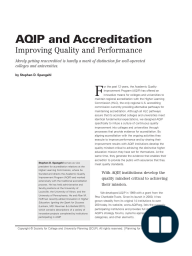 AQIP and Accreditation