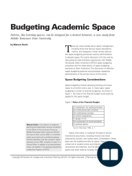 Budgeting Academic Space