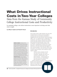 What Drives Instructional Costs in Two-Year Colleges