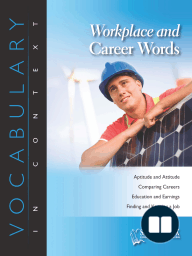 Workplace and Career Words-Career Focus