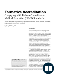 Formative Accreditation