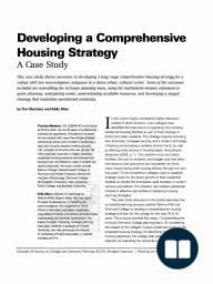 Developing a Comprehensive Housing Strategy