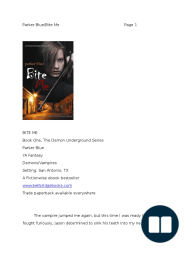 Bite Me by Parker Blue EXCERPT