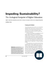 Impeding Sustainability? The Ecological Footprint of Higher Education