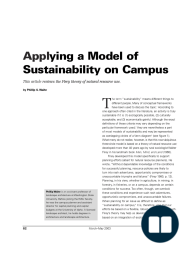 Applying a Model of Sustainability on Campus