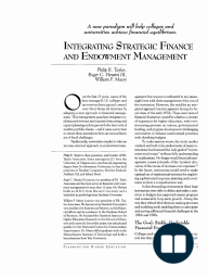Integrating Strategic Finance and Endowment Management