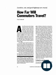 How Far Will Commuters Travel?