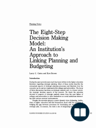 The Eight-Step Decision Making Model