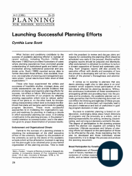 Launching Successful Planning Efforts