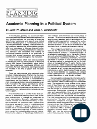 Academic Planning in a Political System