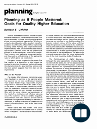 Planning as if People Mattered