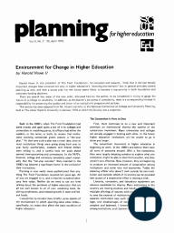 Environment for Change in Higher Education