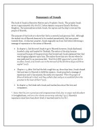 Jonah Summary